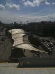 Blick von oben auf den Urban Loriz Platz