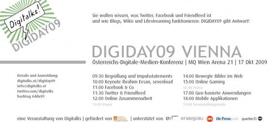 Digiday09 Vienna Programm