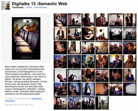 Alle Fotos zur Semantic Web Veranstaltung von Digitalks